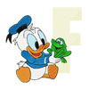 Donald Duck letter F frog