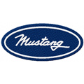 Mustang logo machine embroidery design