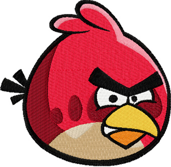 Angry birds logo machine embroidery design