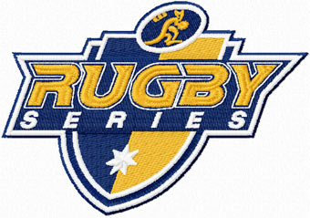 Australian Rugby logo machine embroidery design