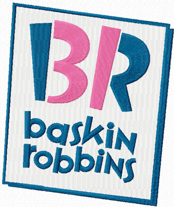Baskin-Robbins logo machine embroidery design