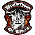 Brotherhood of Bikers patch machine embroidery design