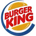 Burger King logo machine embroidery design