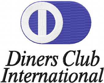Diners Club International logo machine embroidery design