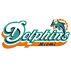 Miami Dolphins big logo machine embroidery design
