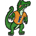 Florida Gators Logo embroidery design