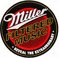 Miller filtered music logo machine embroidery design