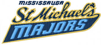 Mississauga St. Michael's Majors logo embroidery design