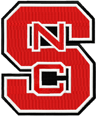 North Carolina State Wolfpack logo machine embroidery design
