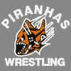 Piranhas Wrestling logo machine embroidery design