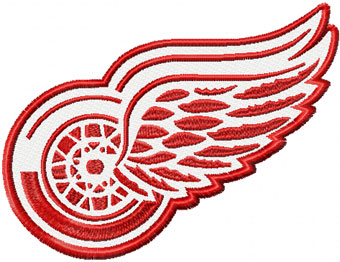 Detroit Red Wings machine embroidery design