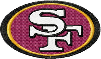 San Francisco 49ers logo machine embroidery design