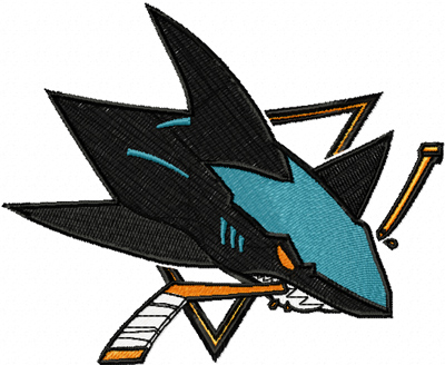 San Jose Sharks logo machine embroidery design