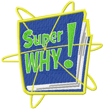 Super Why Logo machine embroidery design