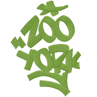 Zoo York Logo machine embroidery design