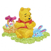 Winnie Pooh and Piglet Easter