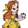 Little Princess Beauty and the Beast machine embroidery design