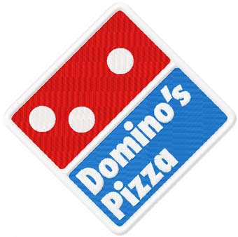 Domino's pizza logo machine embroidery design