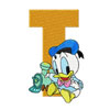 Donald Duck letter T train