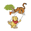 Winnie pooh and Tiger to swing