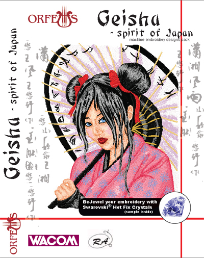 geisha spirit of japan embroidery cd