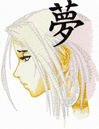 Japan embroidery anime design download
