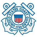 United States coast guard logo embroidery design