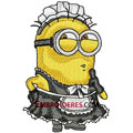 Minion girl machine embroidery design