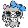 Cute kitten machine embroidery design