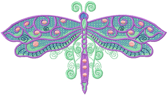 Celtic Dragonfly Autumn machine embroidery design