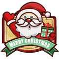 Christmas Label Santa machine embroidery design