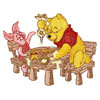 Winnie Pooh and piglet make Christmas dinner