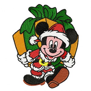 Christmas Mickey Mouse machine embroidery design