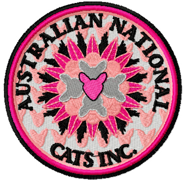 Australian National cats inc. embroidery logo