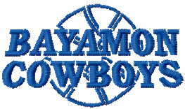 custom digitizing bayamon cowboys logo