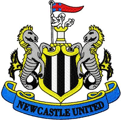 Newcastle United custom embroidery logo