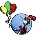 dr.Seuss Cat in the hat with balloons