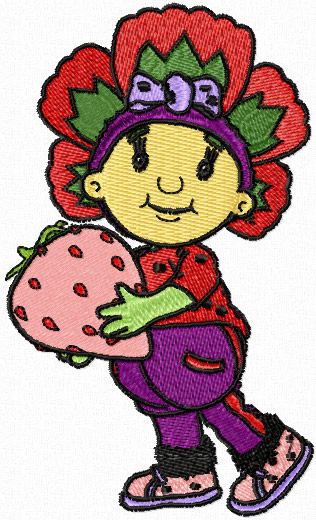 Flowertots Poppy machine embroidery design