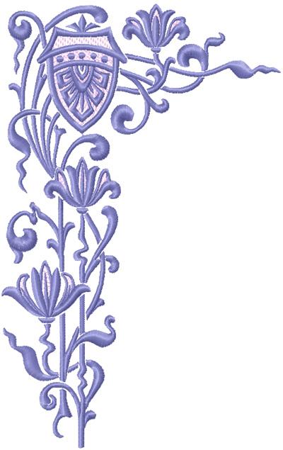 Vintage corner free embroidery design