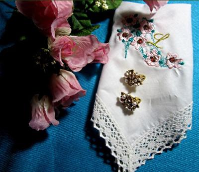 embroidered wedding gift