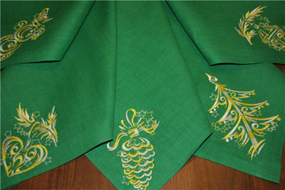 christmas towels embroidered gift
