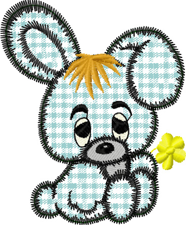 Free Bunny Applique Embroidery Design Instant Download Without