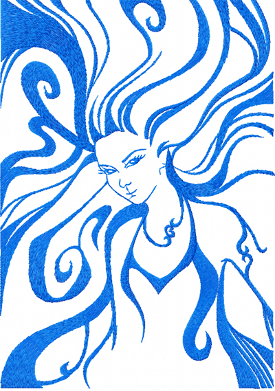 Virgo Free Embroidery Design For Download