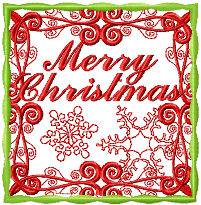 Christmas free machine embroidery design