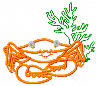 Free Crab machine embroidery design