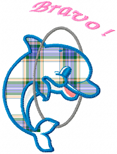 Dolphin Free Applique Machine Embroidery Design