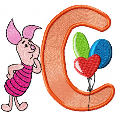 piglet free machine embroidery design