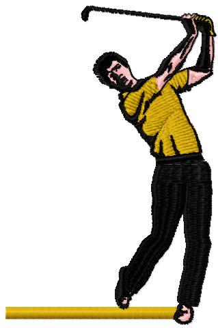 Golfer Free Machine Embroidery Design