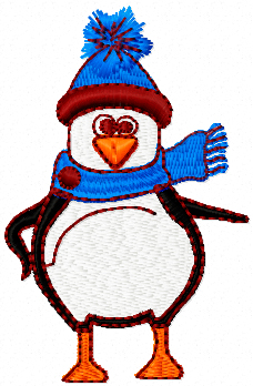 little penguin free machine embroidery design
