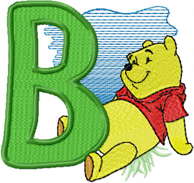 winnie pooh free machine embroidery design